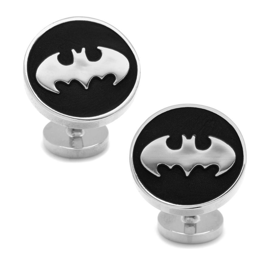 Recessed Black Batman Cufflinks