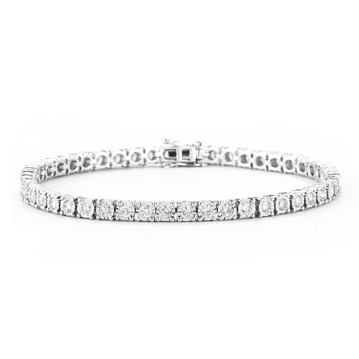 Paramout Gems 3 Carat Diamond Buttercup Bracelet