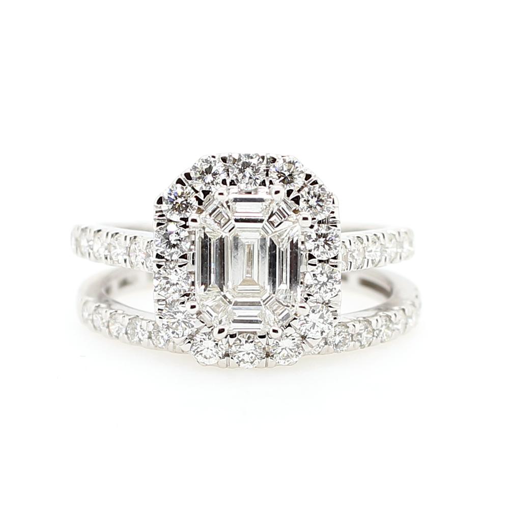 Paramount Gems 18 Karat White Gold Diamond Bridal Set