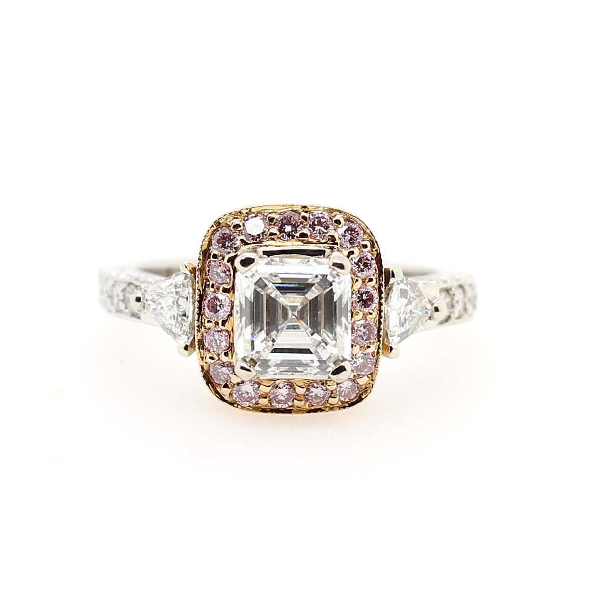 14 Karat White EGL Certified Diamond Ring