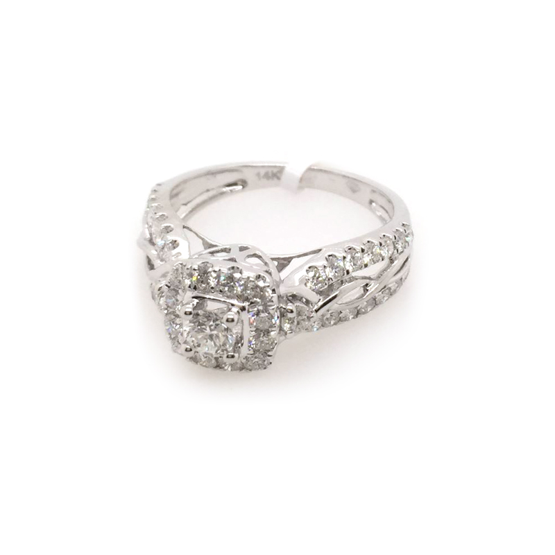 Paramount Gems 14 Karat White Gold Diamond Bridal Ring