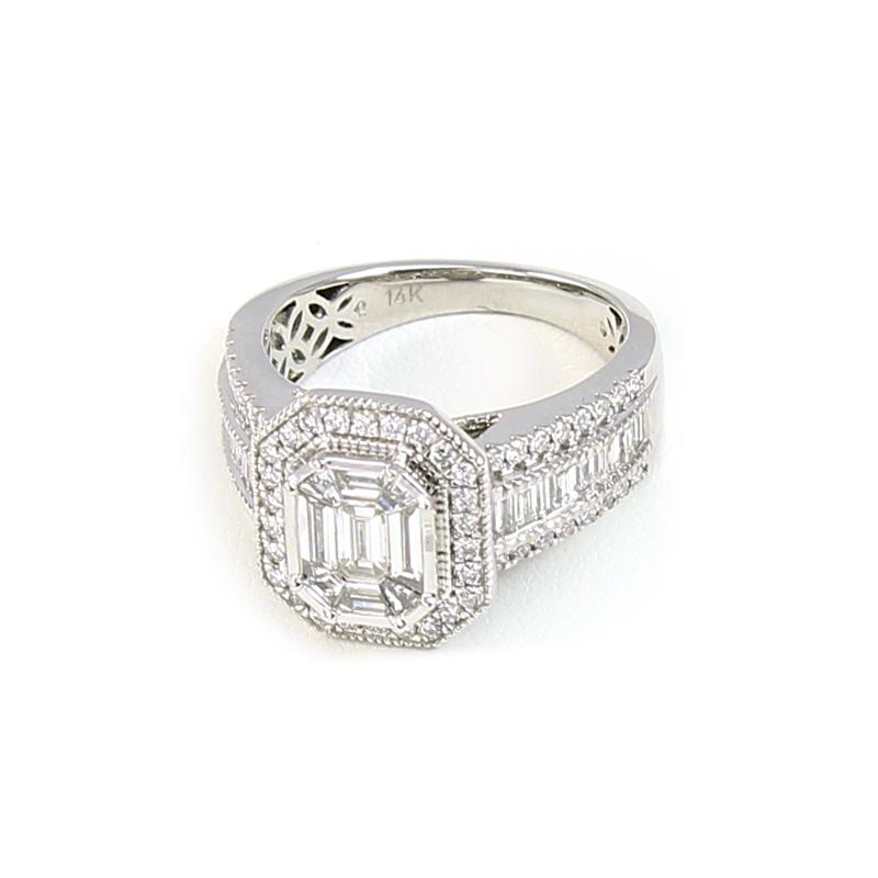 Paramount Gems 14 Karat White Gold Diamond Bridal Ring