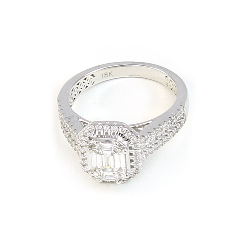 Paramount Gems 18 Karat White Gold Diamond Bridal Ring