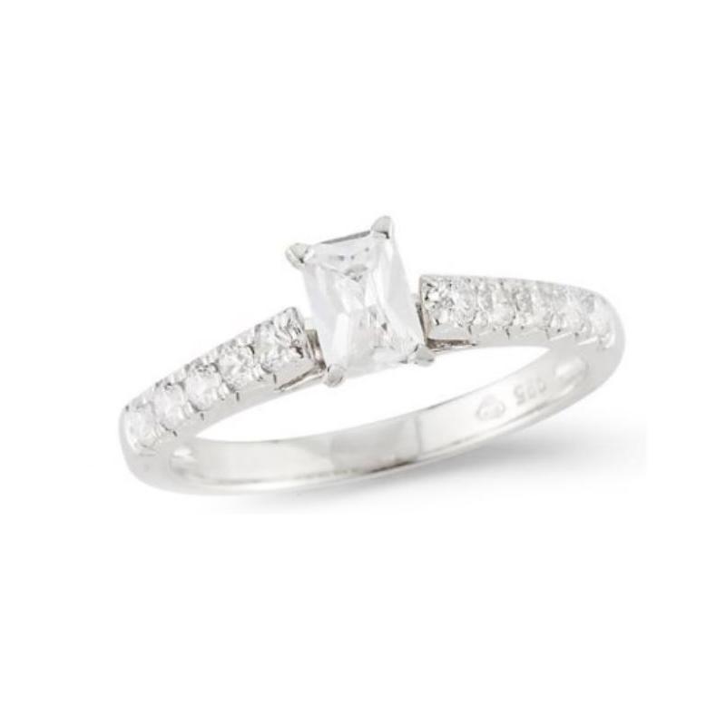 Paramount Gems 14 Karat White Gold Diamond Radiant Cut Bridal Ring
