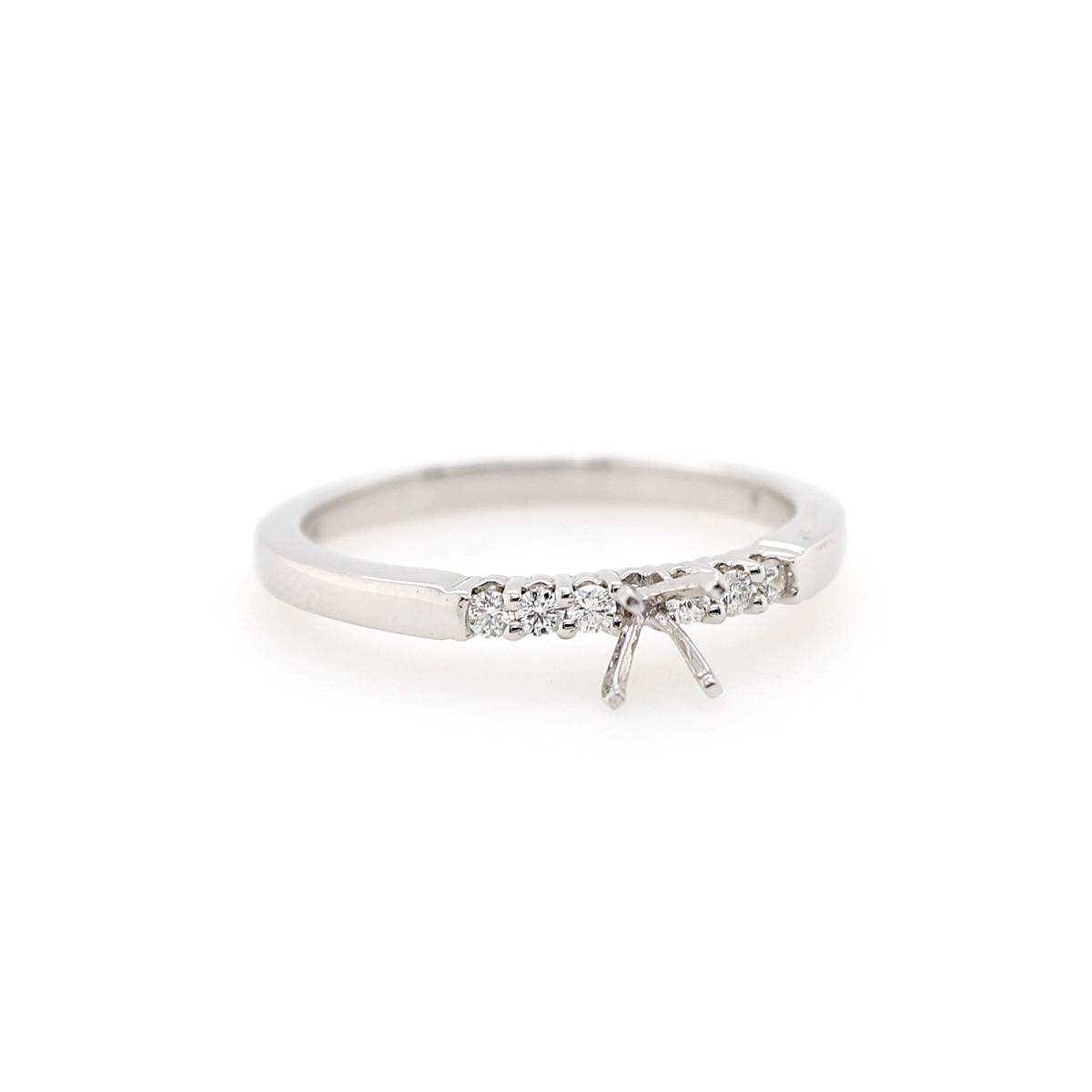 Shefi Diamonds 14 Karat White Gold .1 Carat Semi-Mount Engagement Ring