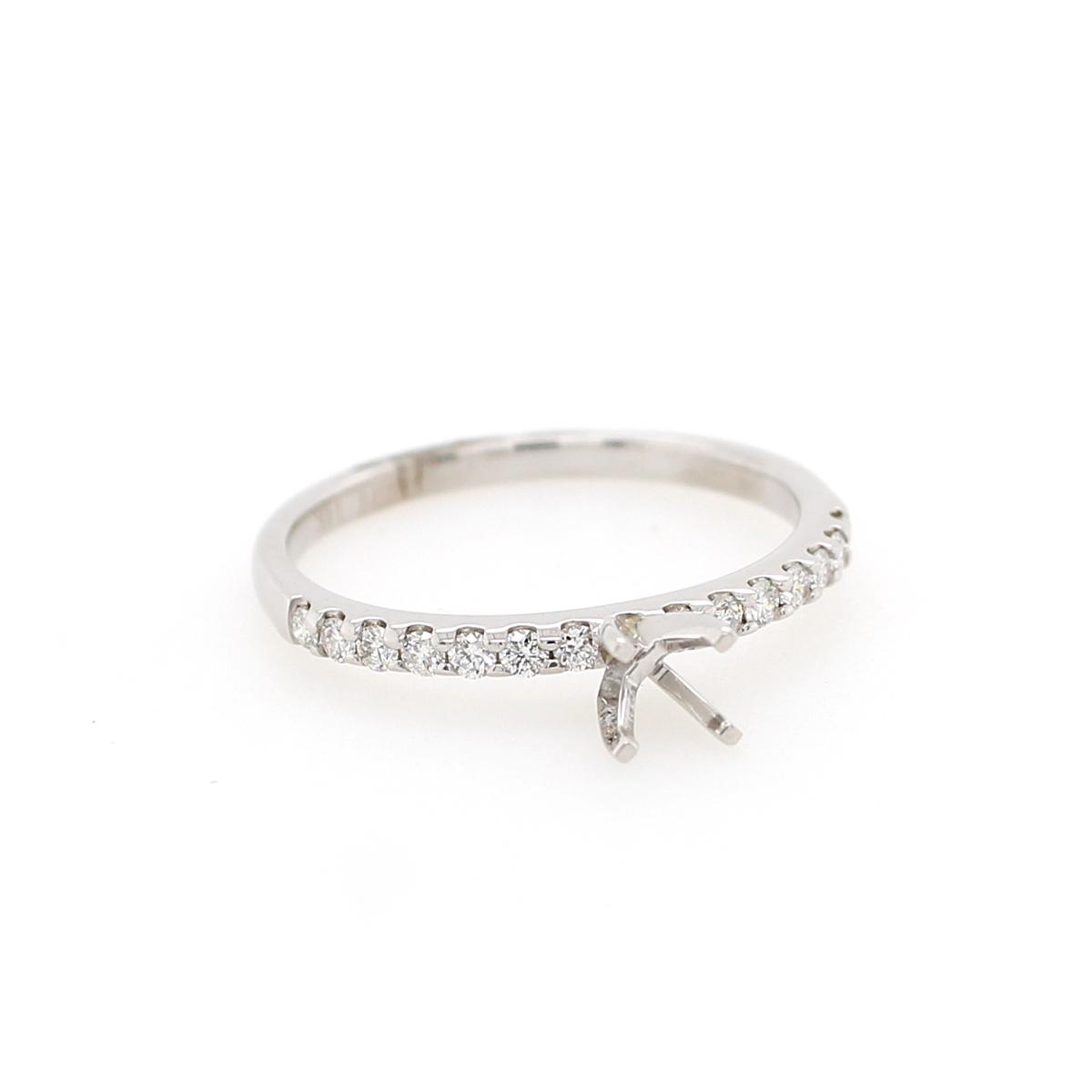 14 Karat White Gold .2 Carat Diamond Semi-Mount Engagement Ring