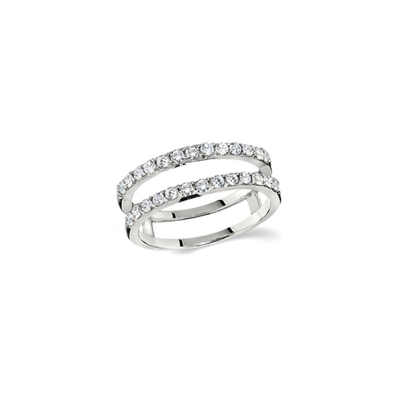 Shefi Diamonds 14 Karat White Gold Diamond Ring Jacket
