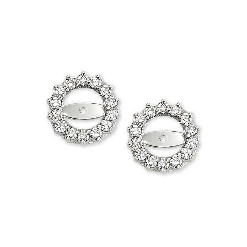 Shefi Diamonds 14 Karat White Gold Diamond Earring Jackets (1 Carat)