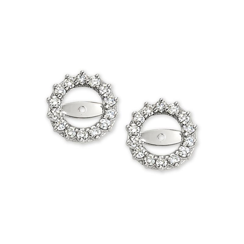 Shefi Diamonds 14 Karat White Gold Diamond Earring Jackets (.75 Carat)