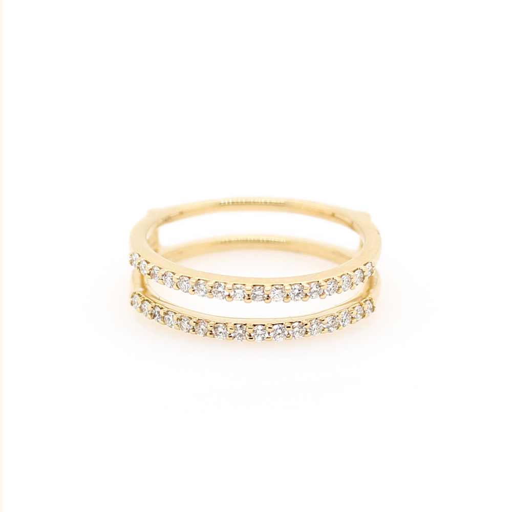 Shefi Diamonds 14 Karat Yellow Gold Diamond Ring Jacket (.33 Carat)