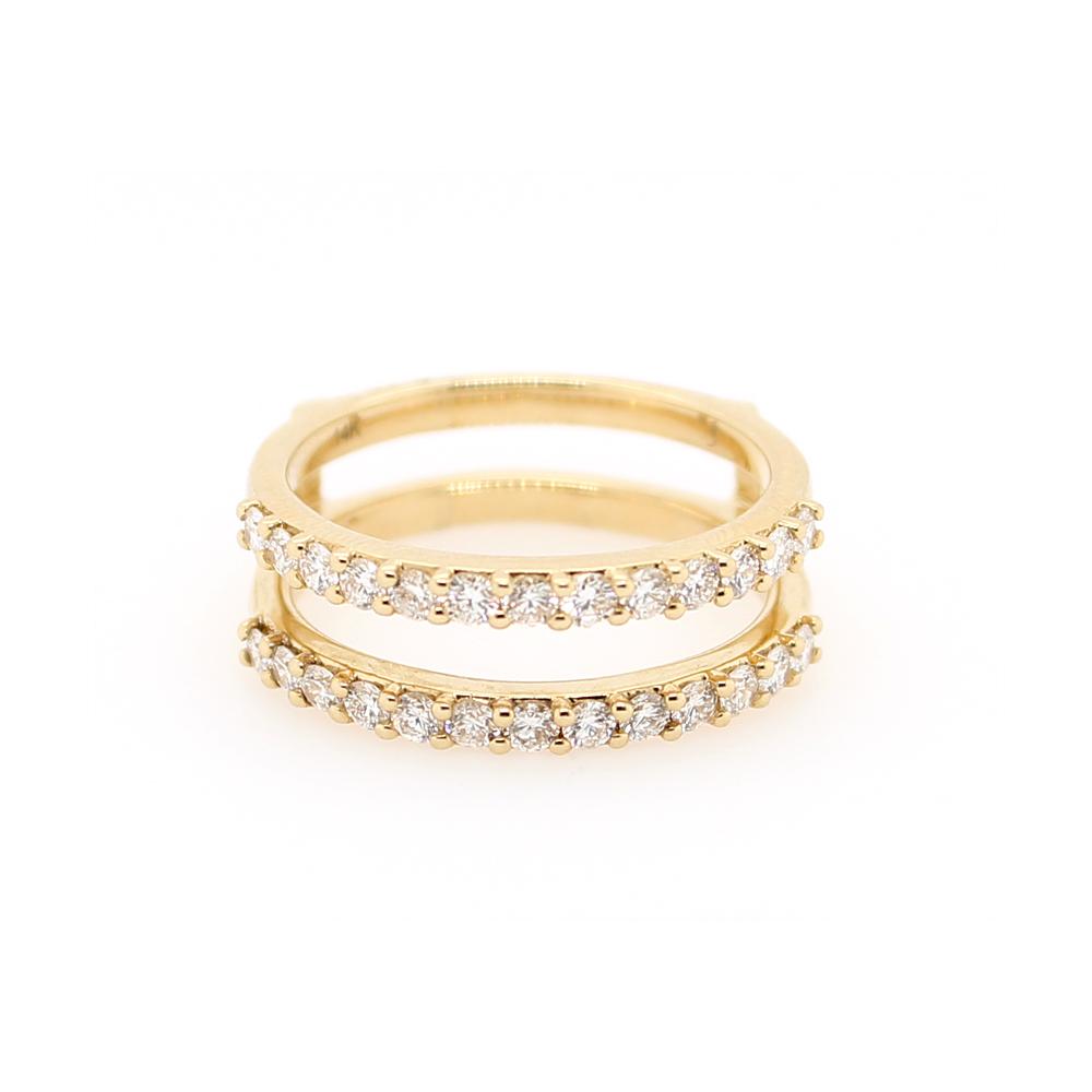 Shefi Diamonds 14 Karat Yellow Gold Diamond Ring Jacket (.75 Carat)