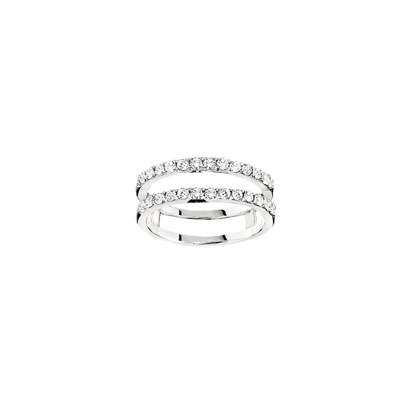 Shefi Diamonds 14 Karat White Gold Diamond Ring Jacket