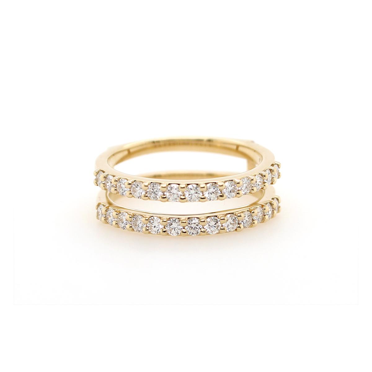 Shefi Diamonds 14 Karat Yellow Gold .75 Carat Diamond Ring Jacket