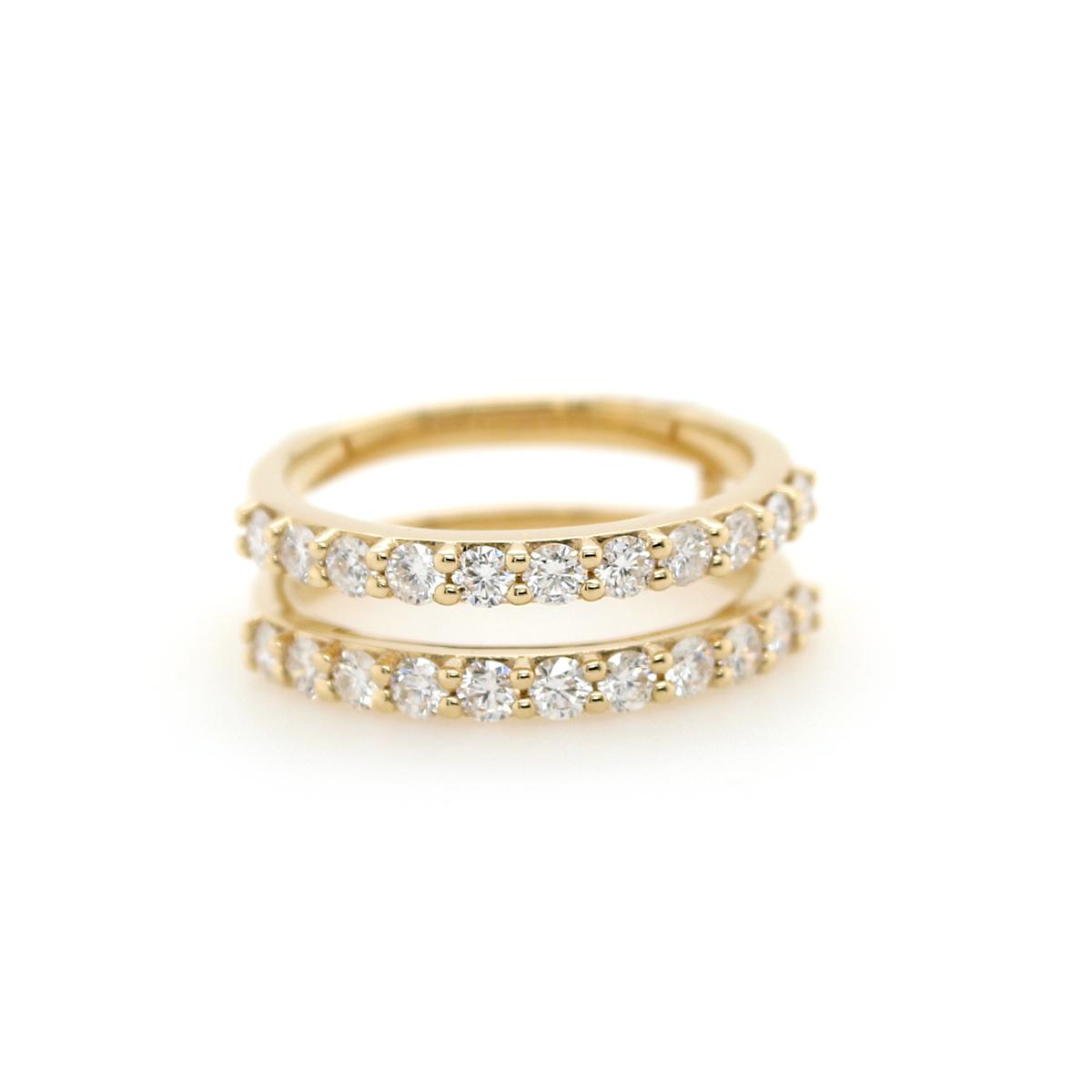 Shefi Diamonds 14 Karat Yellow Gold 1 Carat Diamond Ring Jacket
