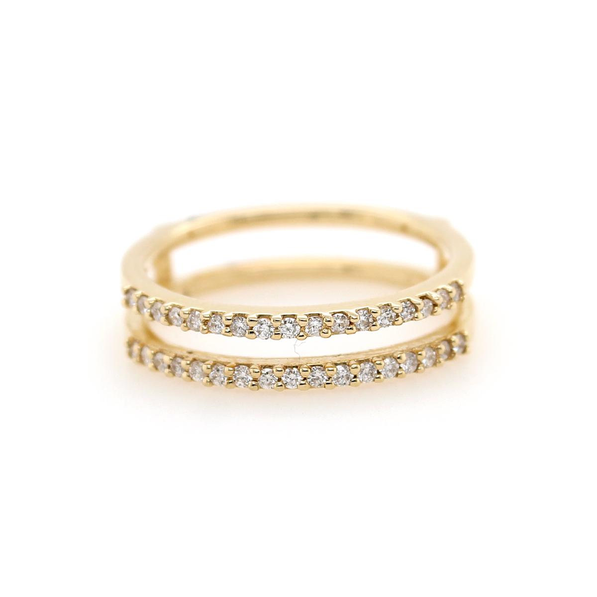 Shefi Diamonds 14 Karat Yellow Gold .25 Carat Diamond Ring Jacket