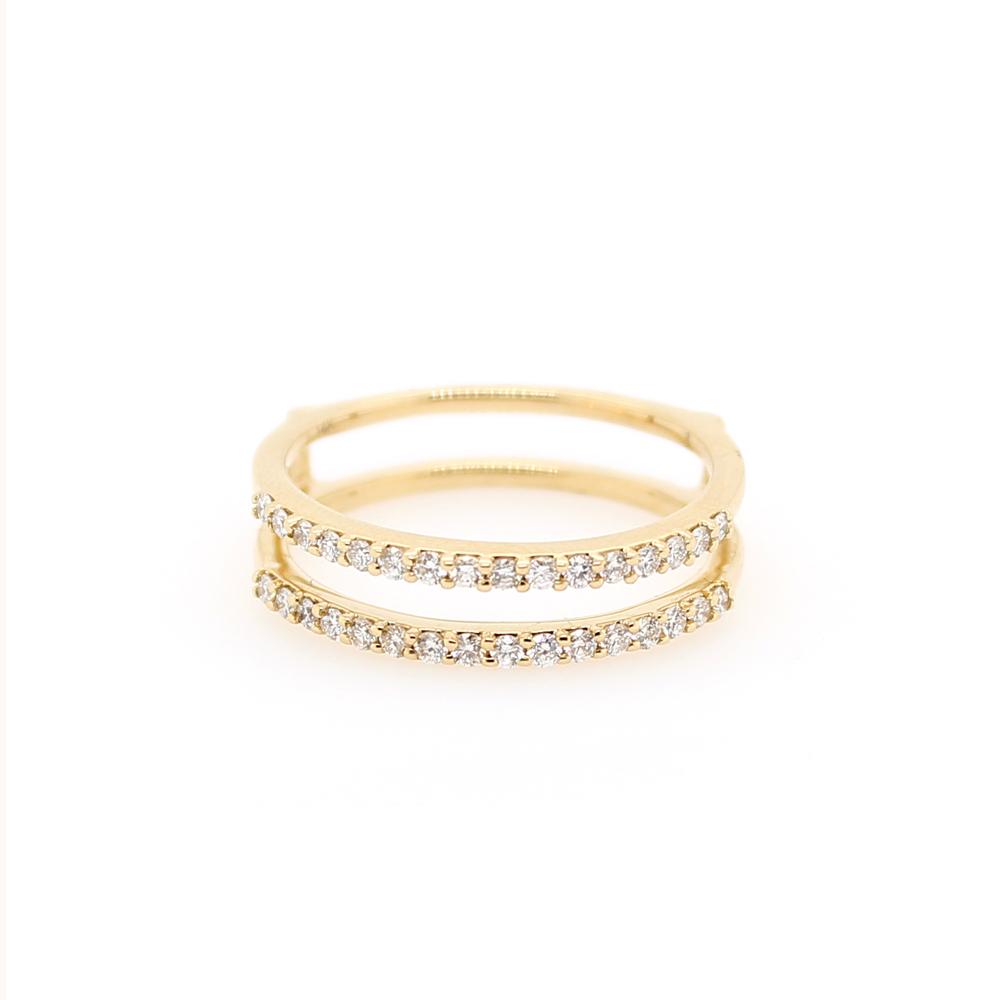 Shefi Diamonds 14 Karat Yellow Gold .33 Carat Diamond Ring Jacket