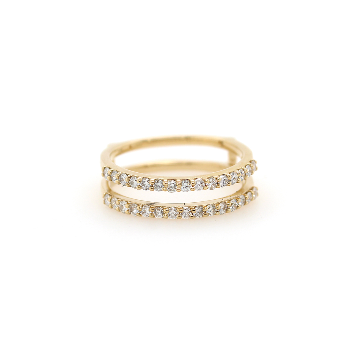 Shefi Diamonds 14 Karat Yellow Gold .5 Carat Diamond Ring Jacket