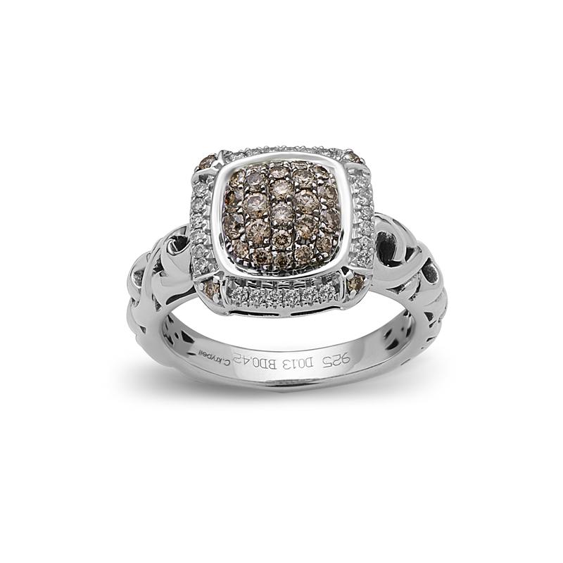 CHARLES KRYPELL BROWN DIAMOND PAVE RING