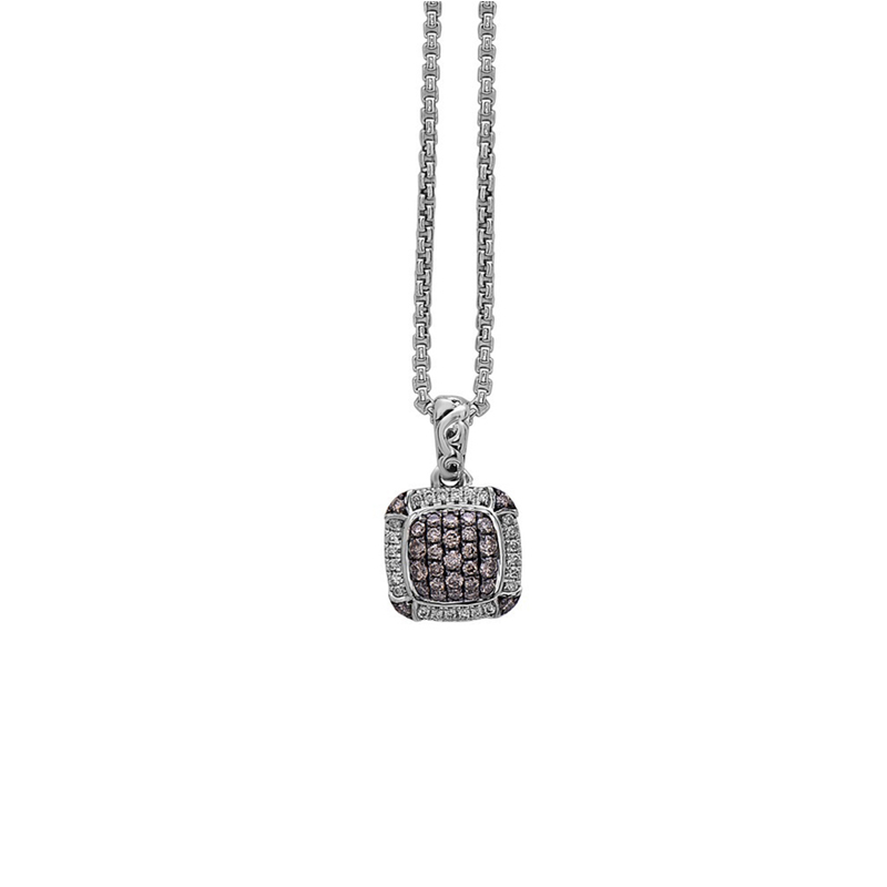 CHARLES KRYPELL BROWN DIAMOND PAVE NECKLACE