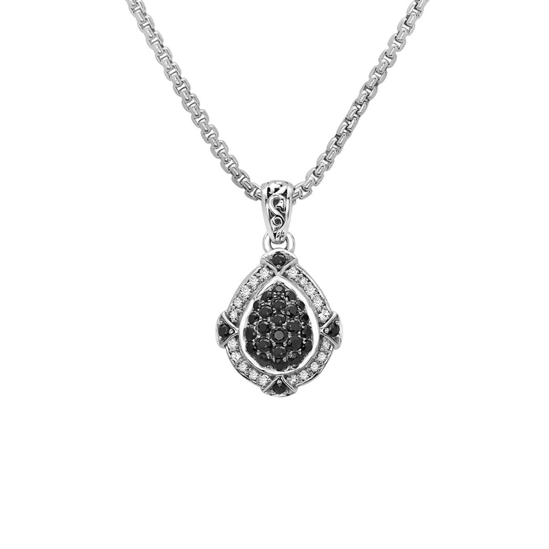 CHARLES KRYPELL BLACK SAPPHIRE PAVE NECKLACE