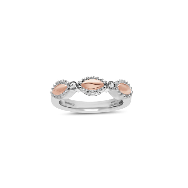 CHARLES KRYPELL FIREFLY TWO TONE RING