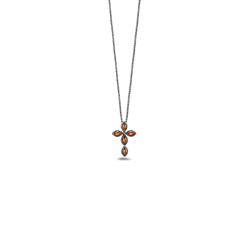 CHARLES KRYPELL FIREFLY TWO TONE NECKLACE