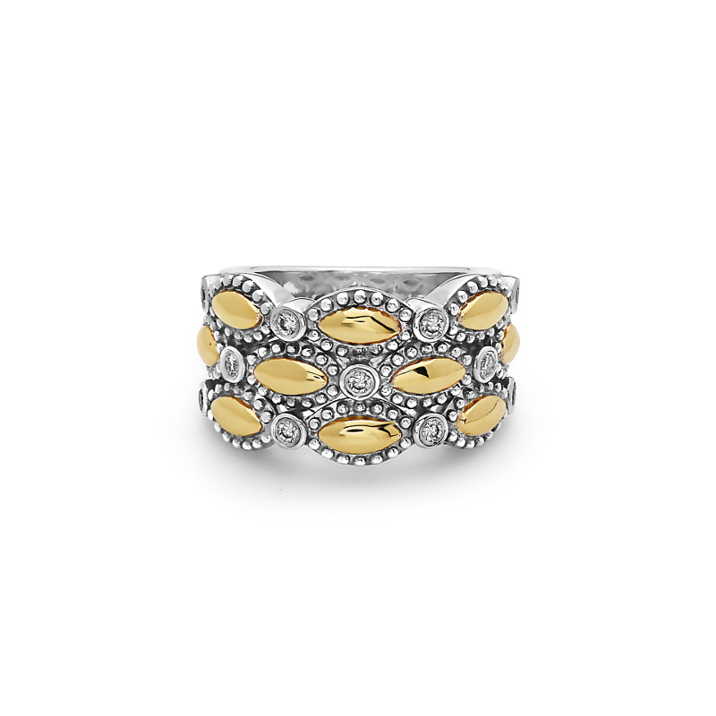 CHARLES KRYPELL FIREFLY YELLOW GOLD TRIPLE BAND RING