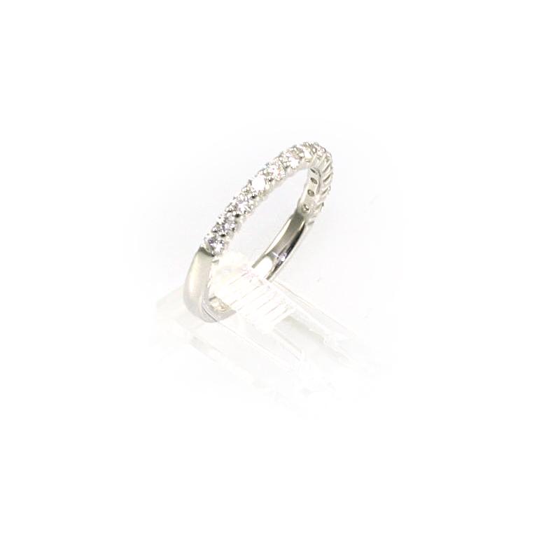 18 Karat White Gold 13 Diamond Wedding Band