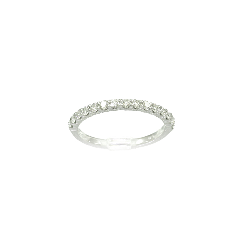 18 Karat White Gold 15 Diamond Wedding Band