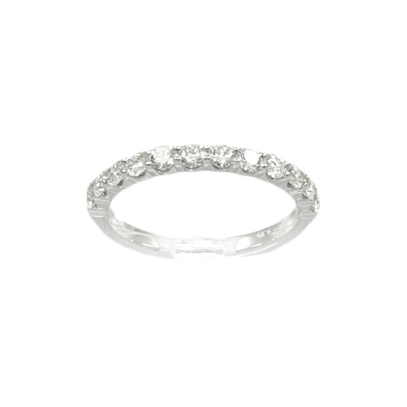18 Karat White Gold 12 Diamond Wedding Band