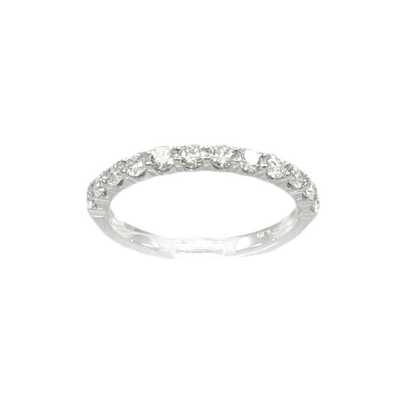 18 Karat White Gold 12 Diamond Wedding Band