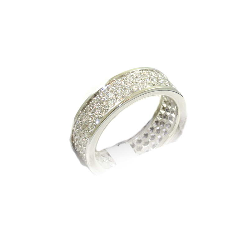 18 Karat White Gold Pave Set Diamond Eternity Band