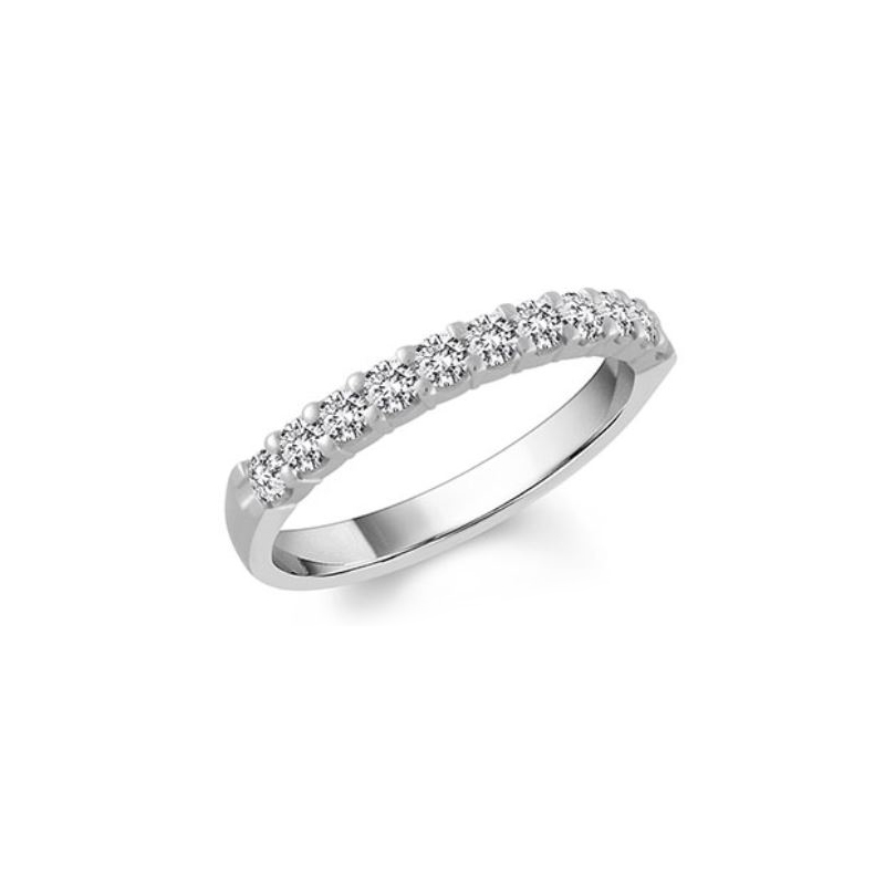 Shefi Diamonds 14 Karat White Gold Diamond Wedding Band (.1 Carat)