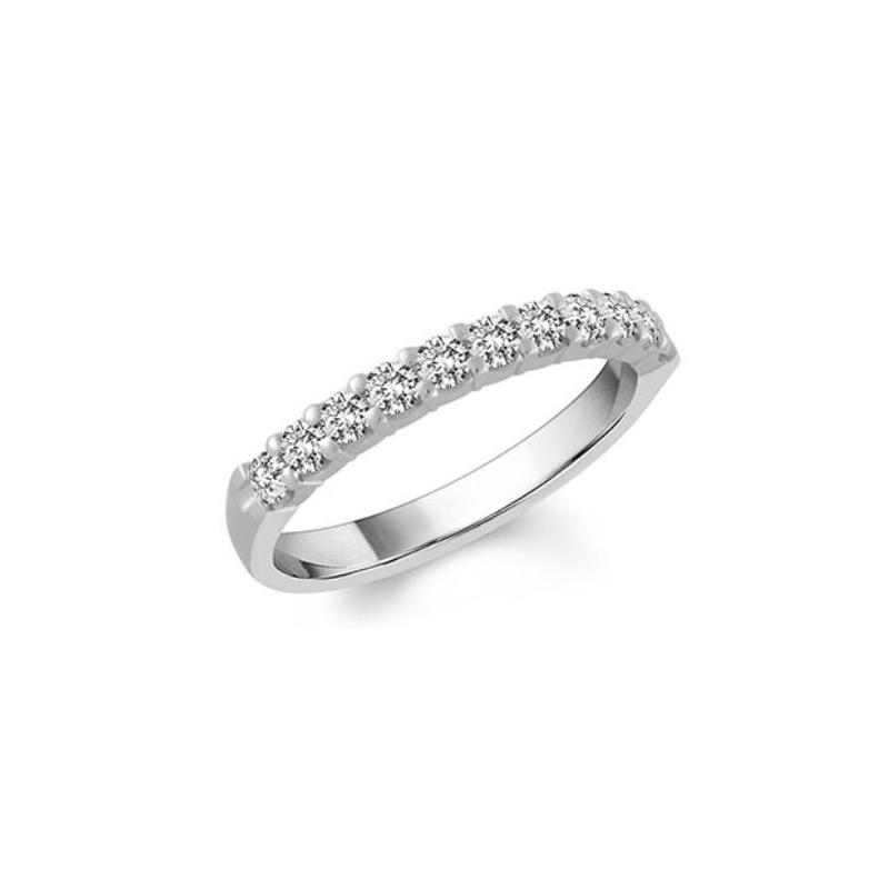 Shefi Diamonds 14 Karat White Gold Diamond Wedding Band (.1 Carat)