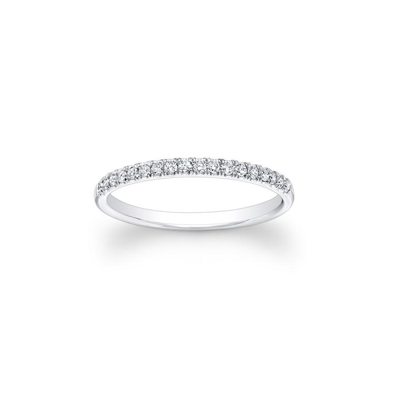 14 Karat white gold and diamond band 1 10 ct DWB