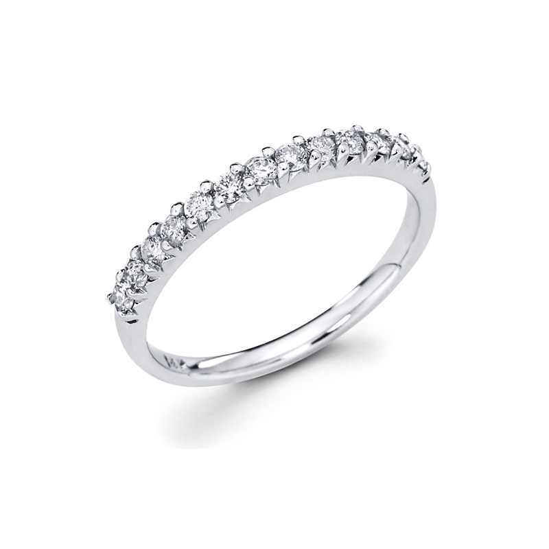 14 Karat white gold and diamond band 1/4 ct.