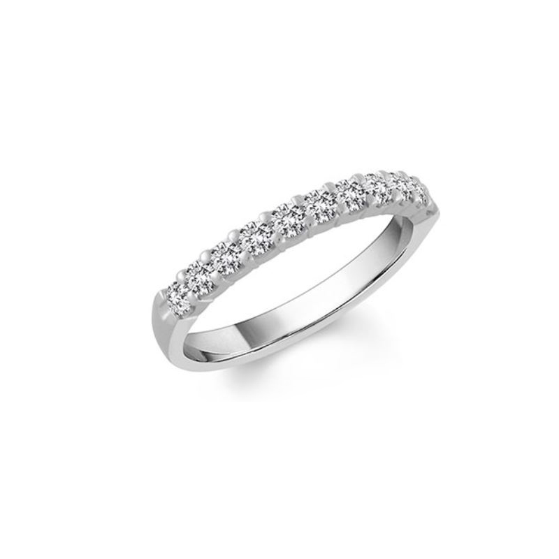 Shefi Diamonds 14 Karat White Gold Diamond Wedding Band (.33 Carat)