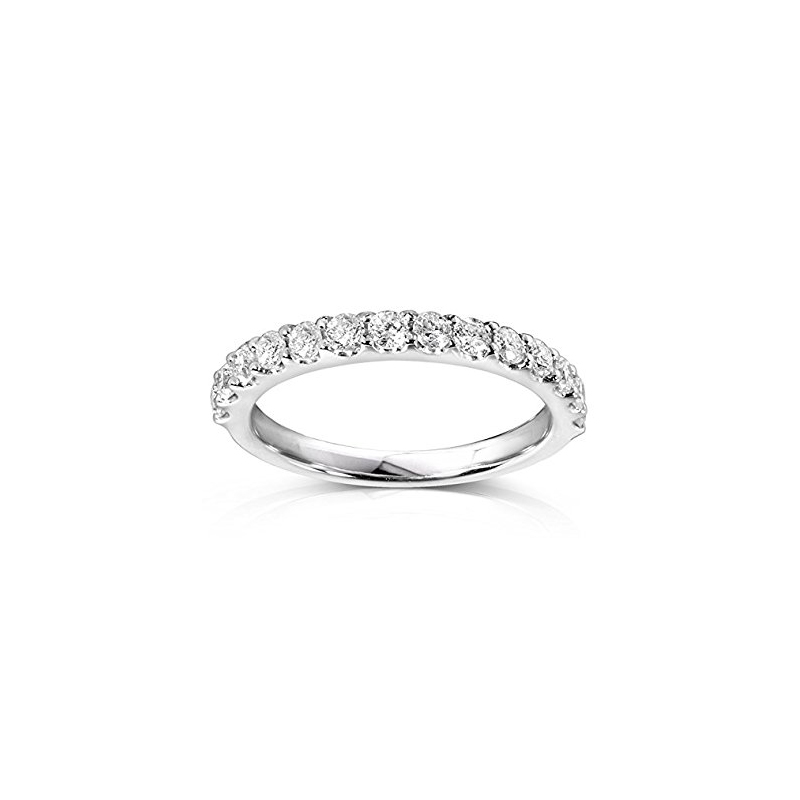 14 Karat white gold and diamond band 3/4 ct.