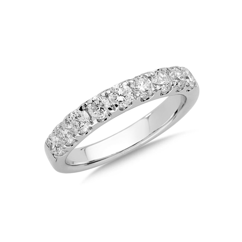 14 Karat white gold and diamond band 1 ct.