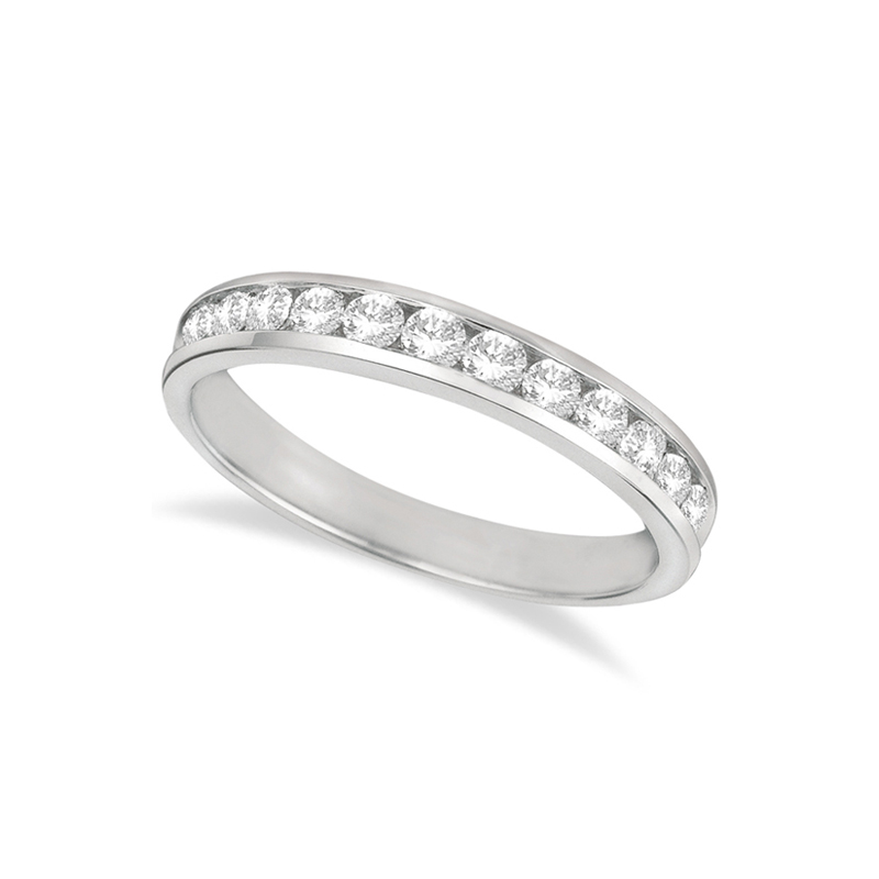 14 Karat white gold and diamond band 1/3 ct.