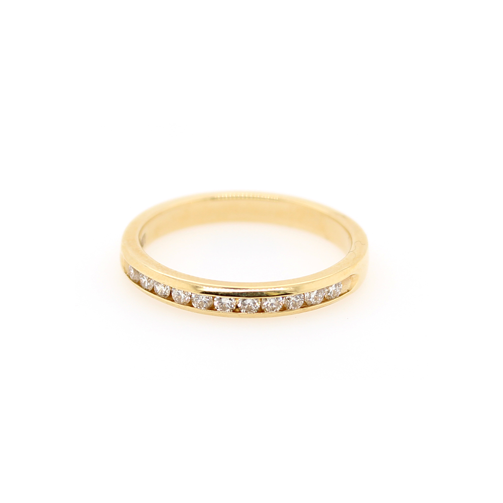 Shefi Diamonds 14 Karat Yellow Gold Diamond Wedding Band (.25 Carat)
