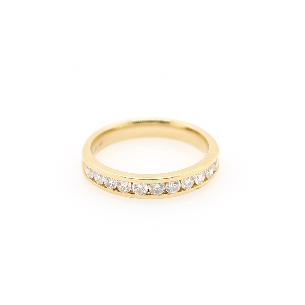 Shefi Diamonds 14 Karat Yellow Gold Diamond Wedding Band (.5 Carat)