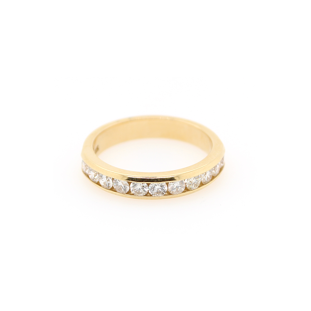 Shefi Diamonds 14 Karat Yellow Gold Diamond Wedding Band (.75 Carat)