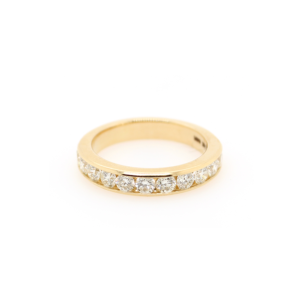 Shefi Diamonds 14 Karat Yellow Gold Diamond Wedding Band (1 Carat)