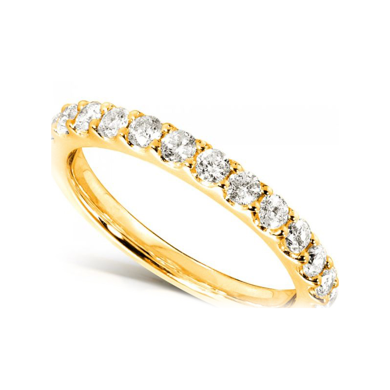 Shefi Diamonds 14 Karat Yellow Gold Diamond Band