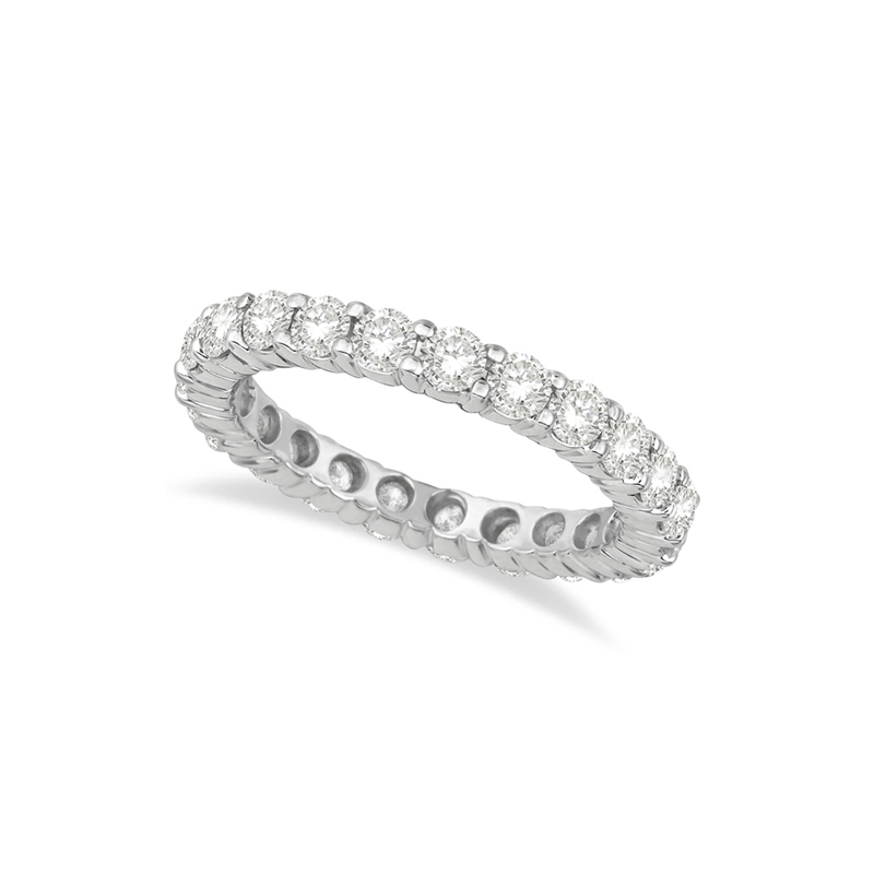 14 Karat white gold and diamond band 1 1/2 ct.
