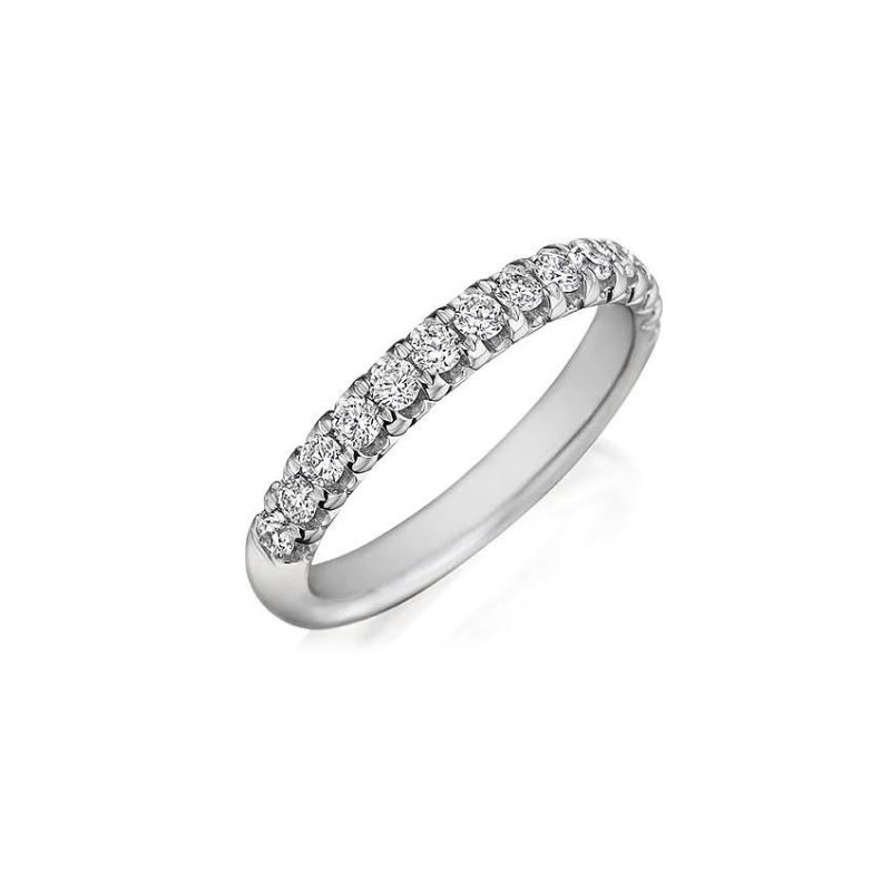 Henry Daussi 14 Karat White Gold Diamond Band