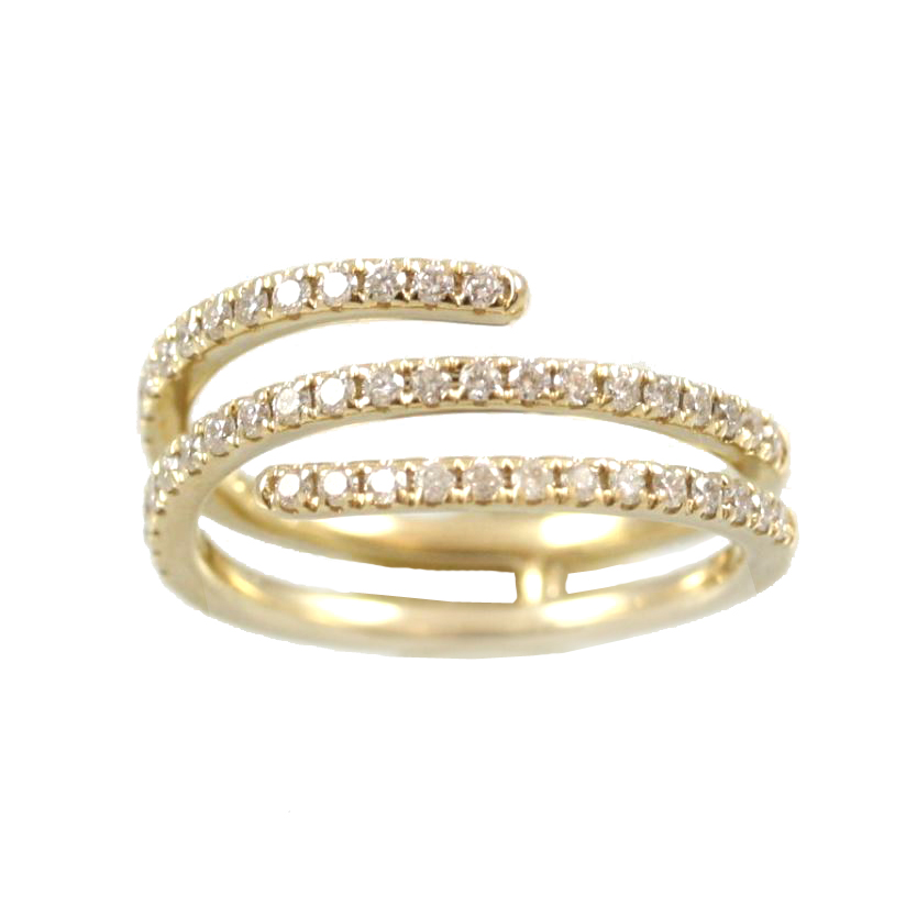 Beny Sofer 14 Karat Yellow Gold Wrap Around Diamond Band