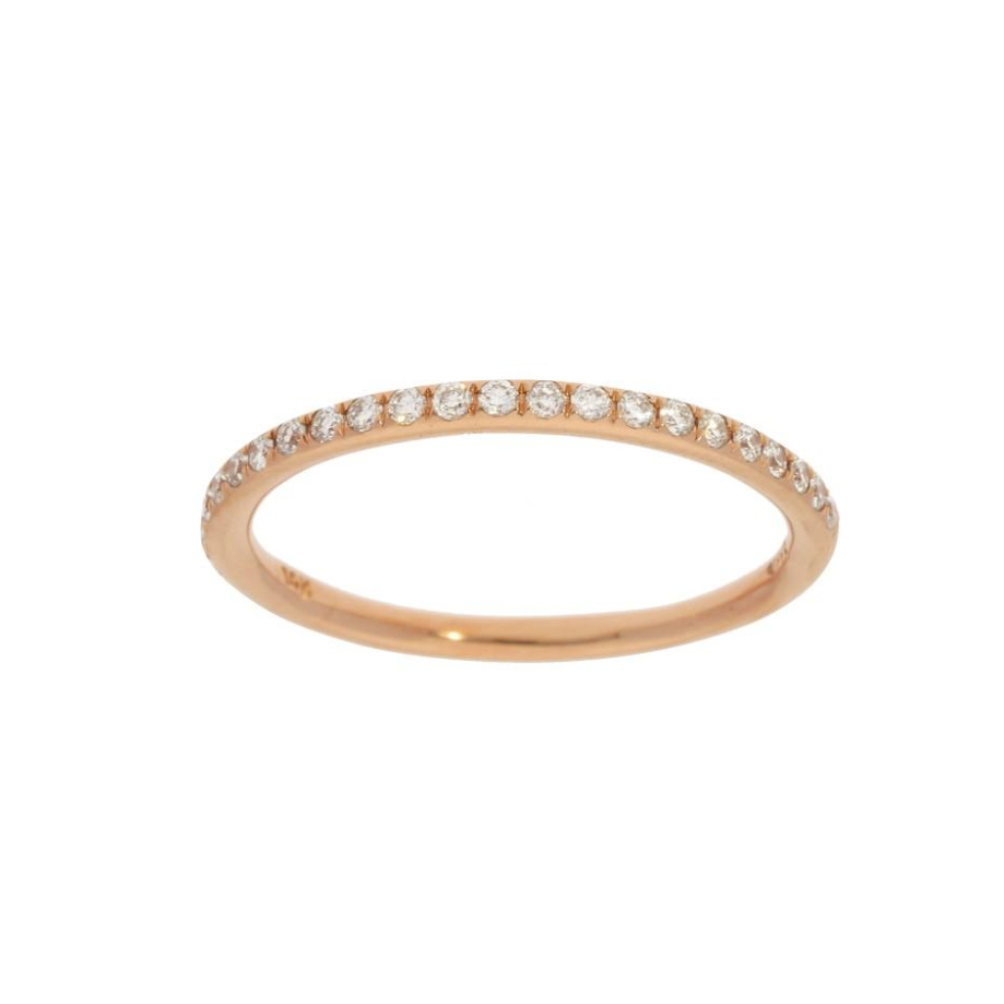 Beny Sofer 14 Karat Rose Gold Halfway Diamond band