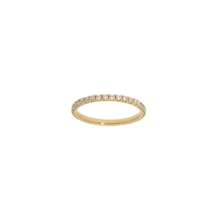 Beny Sofer 14 Karat Yellow Gold Halfway Diamond band